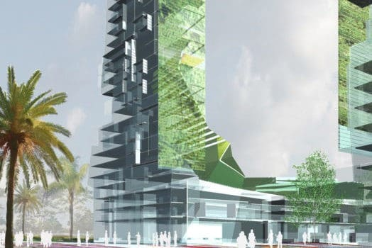 This concept for the Mumbai Tower by Odell Architects takes the vertical garden a step further by incorporating a vertical farm.