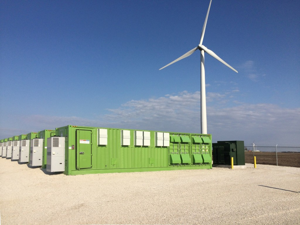 Grand Ridge, an existing Invenergy project that combines wind power and energy storage, in Illinois. Image: Invenergy.